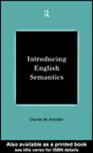 Ebook in inglese Introducing English Semantics Kreidler, Charles W.