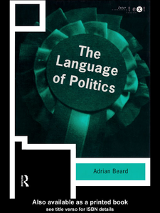 Ebook in inglese The Language of Politics Beard, Adrian