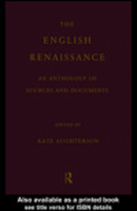 Ebook in inglese The English Renaissance