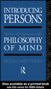 Ebook in inglese Introducing Persons Carruthers, Peter