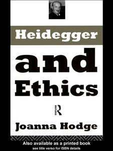 Foto Cover di Heidegger and Ethics, Ebook inglese di Joanna Hodge, edito da