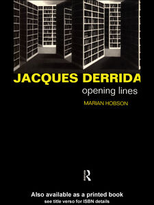 Ebook in inglese Jacques Derrida Hobson, Marian