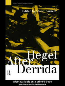 Ebook in inglese Hegel After Derrida