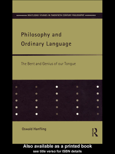 Ebook in inglese Philosophy and Ordinary Language Hanfling, Oswald