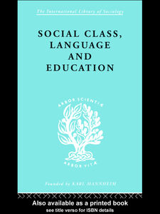 Ebook in inglese Social Class Language and Education Lawton, Denis