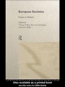 Foto Cover di European Societies, Ebook inglese di AA.VV edito da