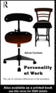 Ebook in inglese Personality at Work Furnham, Adrian