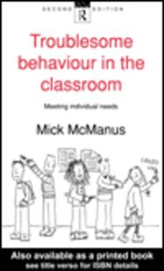 Ebook in inglese Troublesome Behaviour in the Classroom McManus, Mick