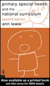Ebook in inglese Primary Special Needs and the National Curriculum Lewis, Ann