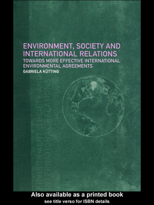 Ebook in inglese Environment, Society and International Relations Kütting, Gabriela