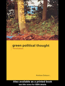 Ebook in inglese Green Political Thought Dobson, Andrew