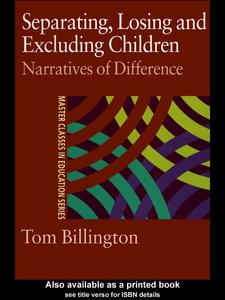 Ebook in inglese Separating, Losing and Excluding Children Billington, Tom