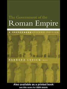 Ebook in inglese The Government of the Roman Empire Levick, Barbara