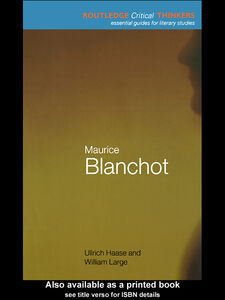 Ebook in inglese Maurice Blanchot Haase, Ullrich , Large, William