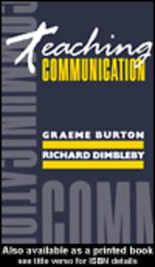 Ebook in inglese Teaching Communication Burton, Graeme , Dimbleby, Richard