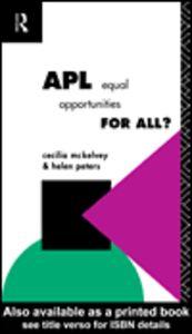 Foto Cover di APL, Ebook inglese di Cecilia McKelvey,Helen Peters, edito da