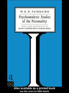 Ebook in inglese Psychoanalytic Studies of the Personality Fairbairn, W. Ronald