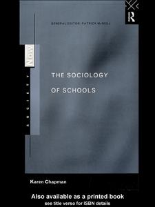 Ebook in inglese The Sociology of Schools Chapman, Karen
