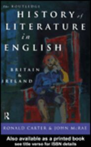 Ebook in inglese The Routledge History of Literature in English Carter, Ronald , McRae, John