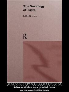 Ebook in inglese The Sociology Of Taste Gronow, Jukka