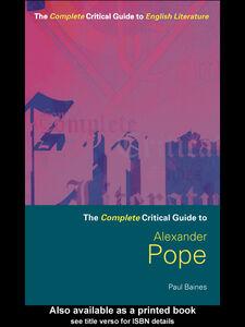 Ebook in inglese Alexander Pope Baines, Paul