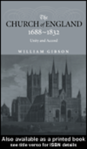 Ebook in inglese The Church of England 1688-1832 Gibson, William