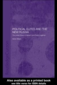 Ebook in inglese Political Elites and the New Russia Steen, Anton