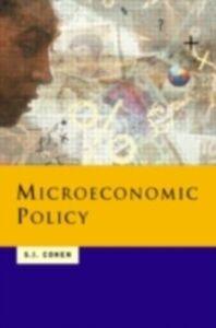 Foto Cover di Microeconomic Policy, Ebook inglese di Solomon Cohen, edito da Taylor and Francis