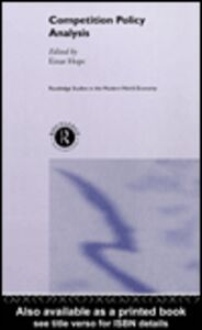 Ebook in inglese Competition Policy Analysis