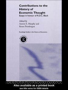 Ebook in inglese Contributions to the History of Economic Thought