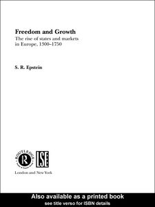 Foto Cover di Freedom and Growth, Ebook inglese di S.R. Epstein, edito da