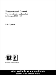 Ebook in inglese Freedom and Growth Epstein, S.R.