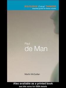Foto Cover di Paul de Man, Ebook inglese di Martin McQuillan, edito da