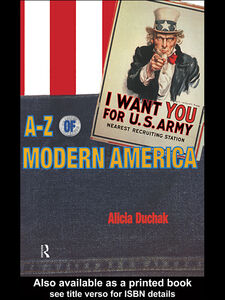 Ebook in inglese A-Z of Modern America Duchak, Alicia
