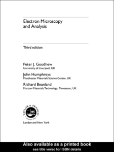 Ebook in inglese Electron Microscopy and Analysis Beanland, R. , Goodhew, P. J , Humphreys, F. J