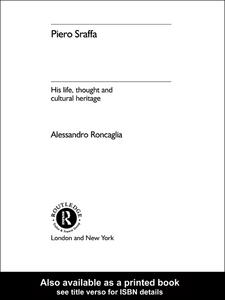Ebook in inglese Piero Sraffa Roncaglia, Alessandro