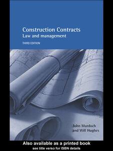 Foto Cover di Construction Contracts, Ebook inglese di Will Hughes,John Murdoch, edito da