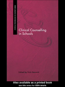 Ebook in inglese Clinical Counselling in Schools