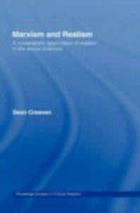 Foto Cover di Marxism and Realism, Ebook inglese di Sean Creaven, edito da Taylor and Francis