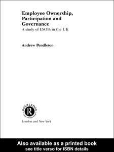 Ebook in inglese Employee Ownership, Participation and Governance Pendleton, Andrew
