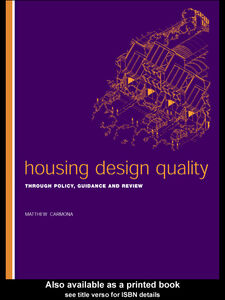 Foto Cover di Housing Design Quality, Ebook inglese di Matthew Carmona, edito da