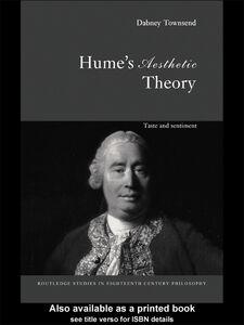 Foto Cover di Hume's Aesthetic Theory, Ebook inglese di Dabney Townsend, edito da