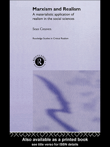 Ebook in inglese Marxism and Realism Creaven, Sean