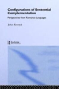 Foto Cover di Configurations of Sentential Complementation, Ebook inglese di Johan Rooryck, edito da Taylor and Francis