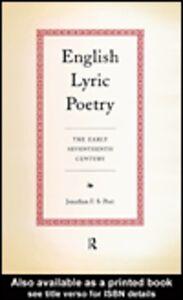 Ebook in inglese English Lyric Poetry Post, Jonathan