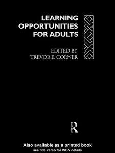 Foto Cover di Learning Opportunities for Adults, Ebook inglese di Trevor Corner, edito da