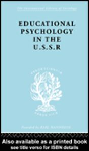 Ebook in inglese Education Psychology in USSR Ils 268 Simon, B. , Simon, J.