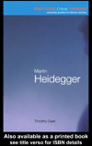 Ebook in inglese Martin Heidegger Clark, Timothy
