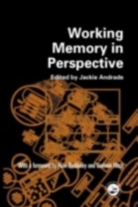 Ebook in inglese Working Memory in Perspective
