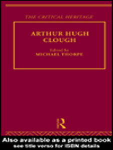 Foto Cover di Arthur Hugh Clough, Ebook inglese di Michael Thorpe, edito da